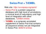 swiss prot trembl