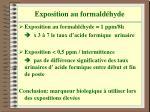 exposition au formald hyde1