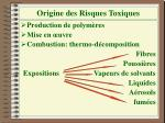 origine des risques toxiques