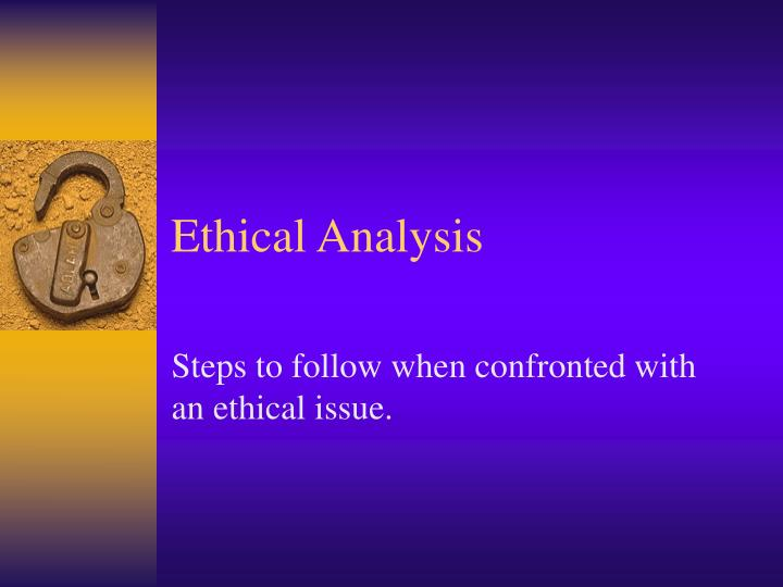 ethical analysis n.