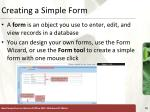 creating a simple form