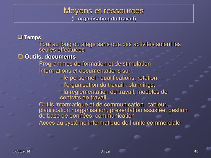 Moyens et ressources