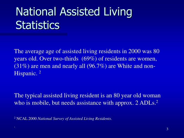 National assisted living statistics1