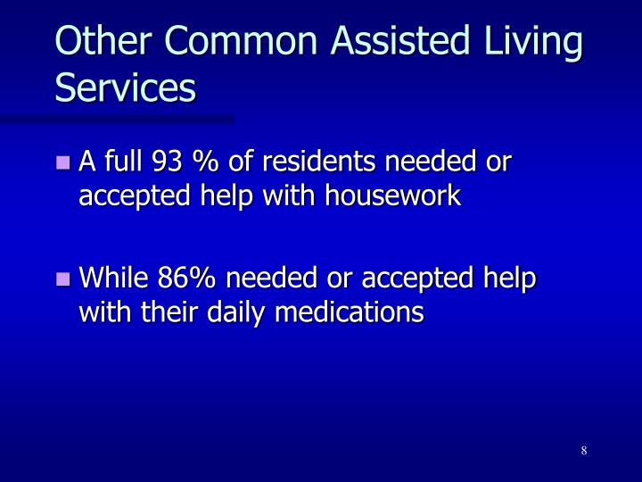 Other Common Assisted Living Services