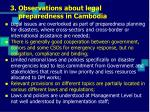 3 observations about legal preparedness in cambodia