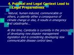 4 political and legal context lead to legal preparedness
