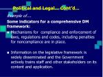 political and legal cont d3