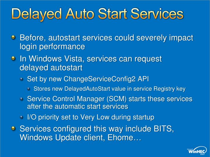 Delayed Auto Start Services