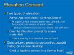 elevation consent