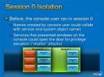 session 0 isolation