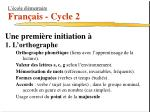 l cole l mentaire fran ais cycle 24