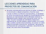 lecciones aprendidas para proyectos de comunicaci n1
