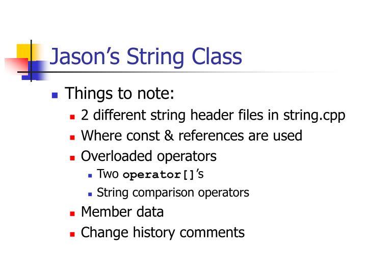 Jason's String Class