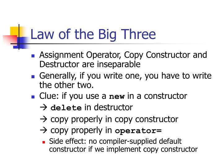 Law of the Big Three