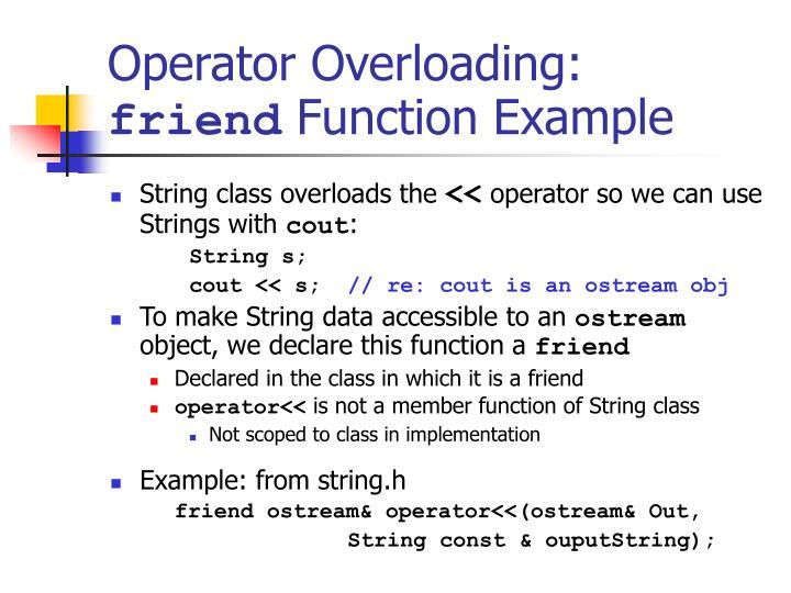 Operator Overloading: