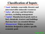 classification of inputs1