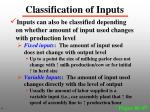 classification of inputs2