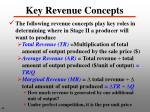 key revenue concepts