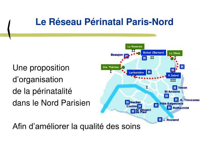 Le Réseau Périnatal Paris-Nord