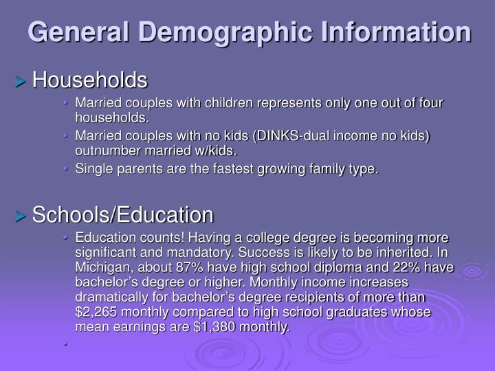 General Demographic Information