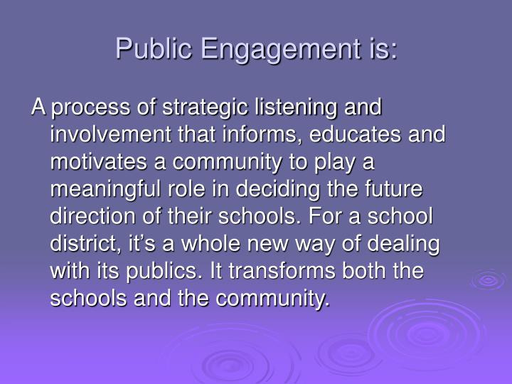 Public Engagement is: