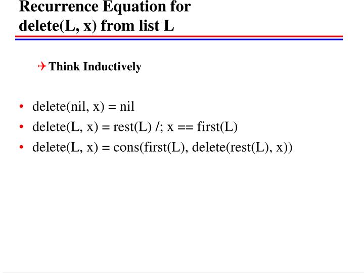 Recurrence Equation for