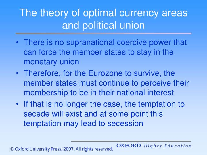 the optimum currency areas theory