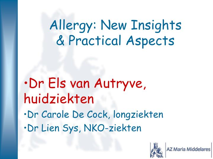 allergy new insights practical aspects n.
