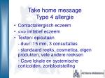 take home message type 4 allergie