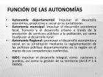 funci n de las autonom as