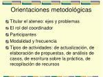 orientaciones metodol gicas