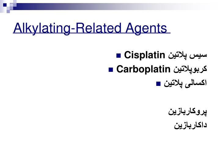 Alkylating-Related Agents