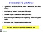 commander s guidance