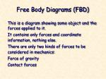 free body diagrams fbd