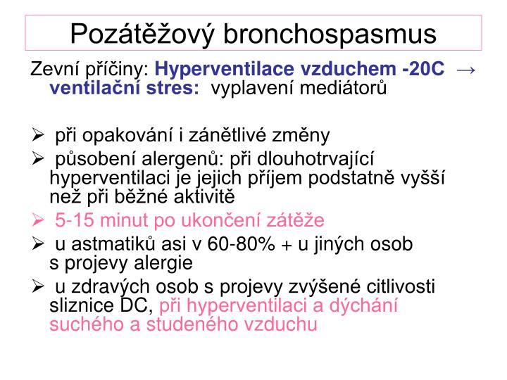 Pozátěžový bronchospasmus
