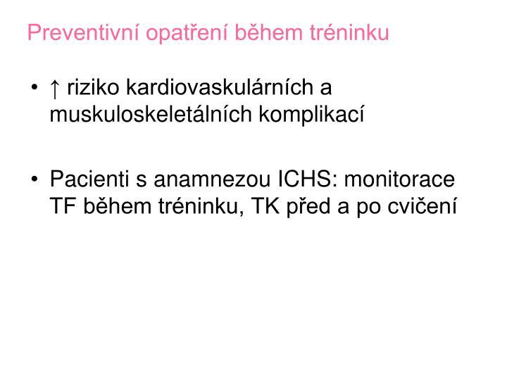 Preventivní opatření během tréninku