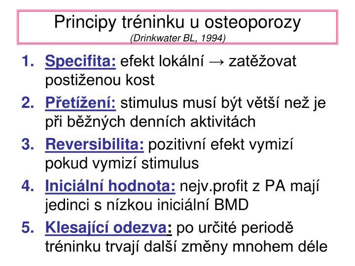 Principy tréninku u osteoporozy