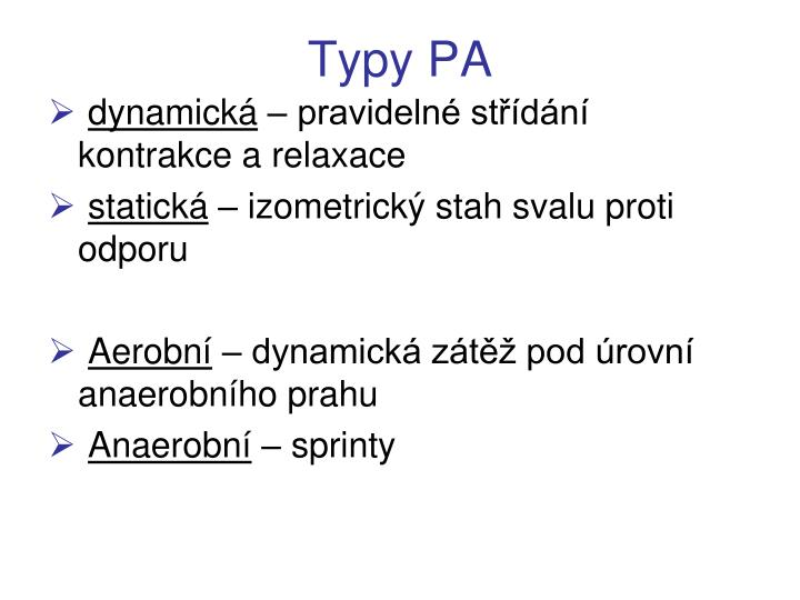 Typy PA