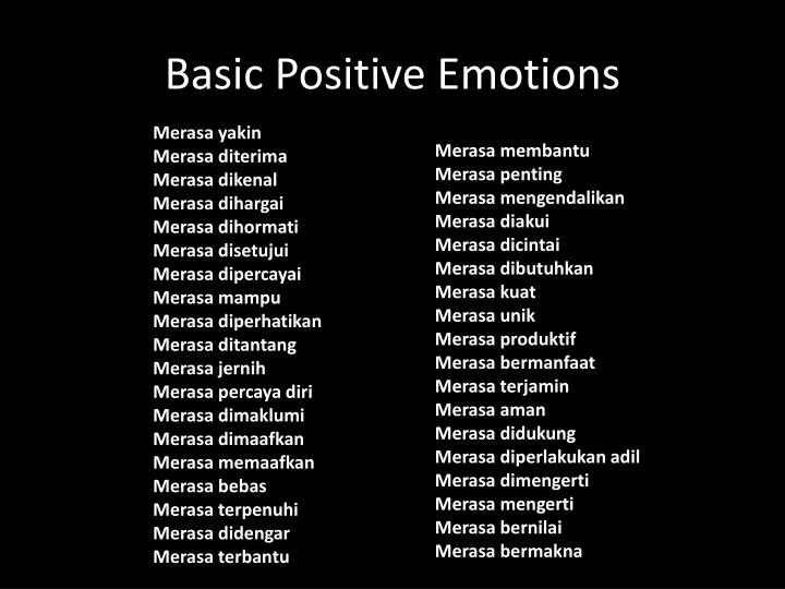 Basic Positive Emotions