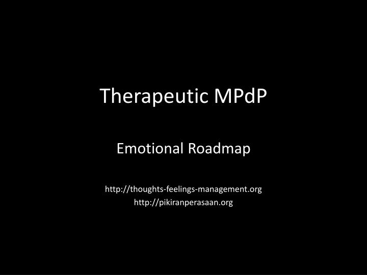 Therapeutic mpdp