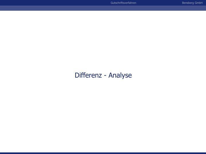 Differenz - Analyse