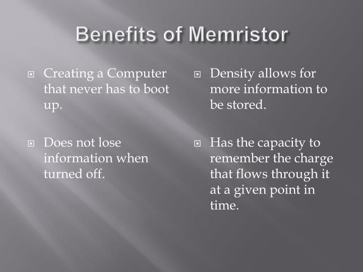 Benefits of
