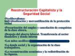 reestructuraci n capitalista y la seguridad social
