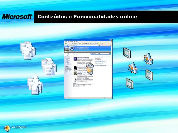 Conteúdos e Funcionalidades online