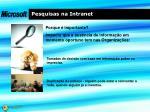 pesquisas na intranet