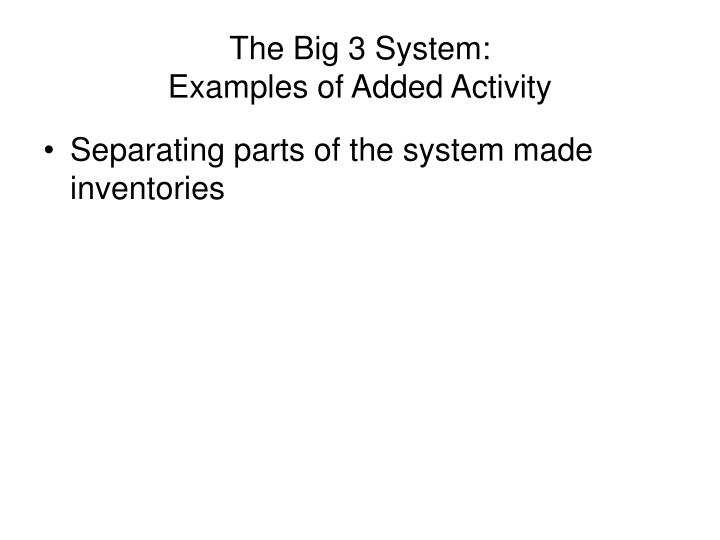 The Big 3 System: