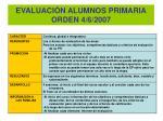 evaluaci n alumnos primaria orden 4 6 2007