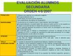 evaluaci n alumnos secundaria orden 4 6 2007