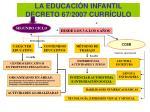 la educaci n infantil decreto 67 2007 curr culo