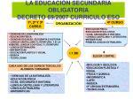 la educaci n secundaria obligatoria decreto 69 2007 curriculo eso